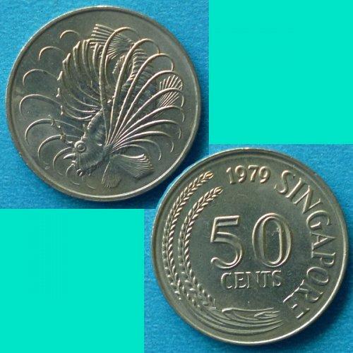 Singapore 50 Cents 1979 km 5