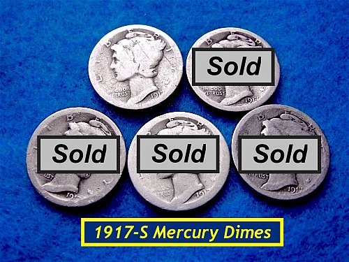 1917-S  Mercury Dime ☆  ☆   (#3428)a