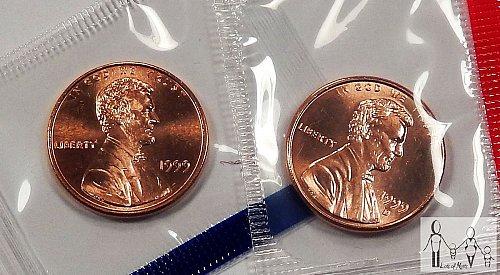 1999 P&D mint pennys