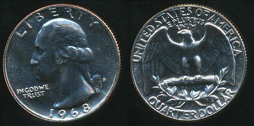 1968s and 1969s proof quarter