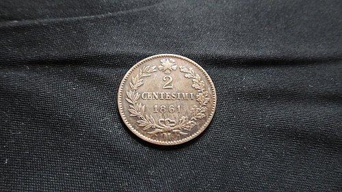 ITALY 1861-M 2 CENTESIMI