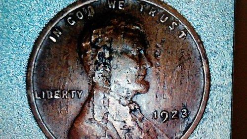 1923-p wheat penny error