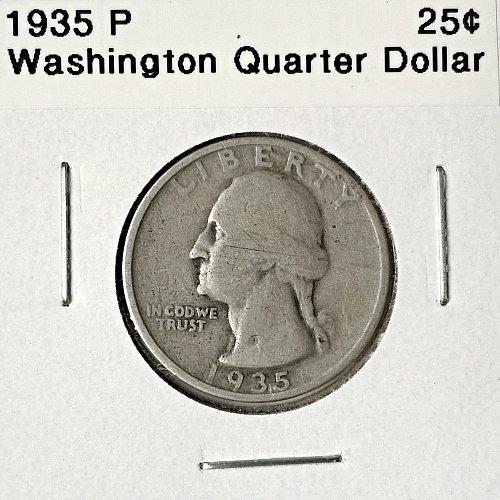 1935 P Washington Quarter Dollar - 6 Photos!