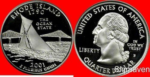 2001s proof quarter rhode island