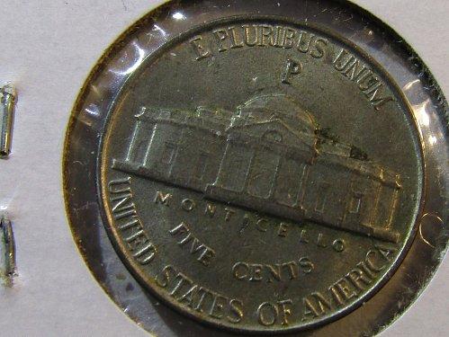 1942-P Wartime SIILVER Jefferson Nickel 35% Silver