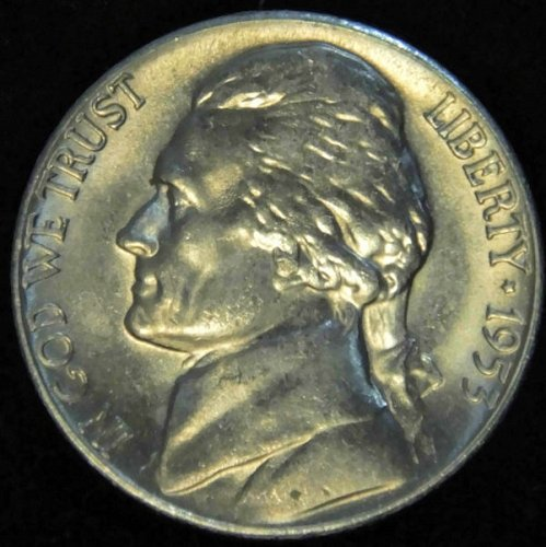 1953 S Jefferson Nickel Choice BU Nearly 'Full Steps' Superb Luster