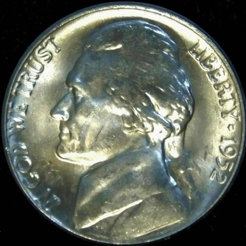 1952 P Jefferson Nickel Choice BU Nearly 'Full Steps' Superb Luster