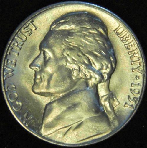 1951 S Jefferson Nickel Choice BU Nearly 'Full Steps' Superb Luster