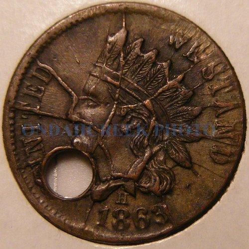 Broas Pie Baker NY Civil War Token Shattered Die + Clash Mint Error