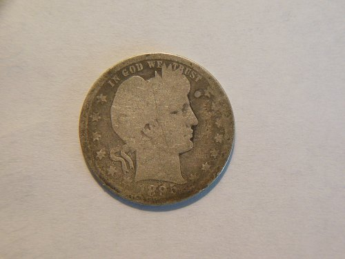 1895-P Silver Barber Quarter