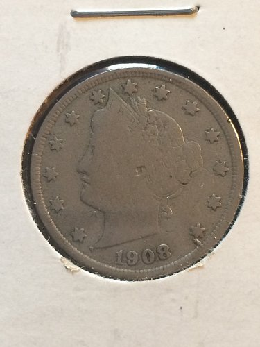 1908 P Liberty Nickels