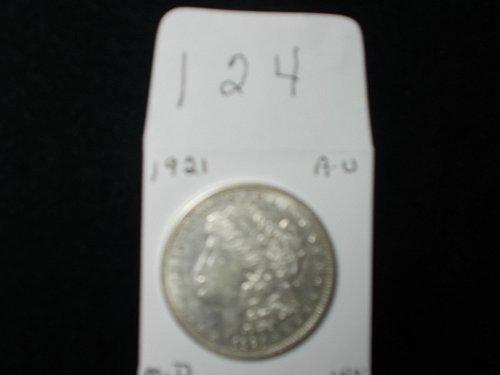 1921  D  MORGAN 90% SILVER   A /U     # 124