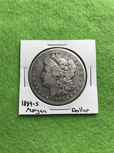 1884-S Morgan Silver Dollar - 90% Silver US Coins - Free Shipping