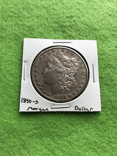 1890-S Morgan Silver Dollar - 90% Silver US Coins - Free Shipping