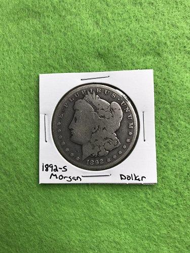 1892-S Morgan Silver Dollar - 90% Silver US Coins - Free Shipping