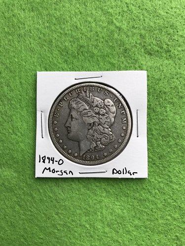 1894-O Morgan Silver Dollar - 90% Silver US Coins - Free Shipping
