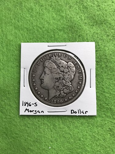 1896-S Morgan Silver Dollar - 90% Silver US Coins - Free Shipping