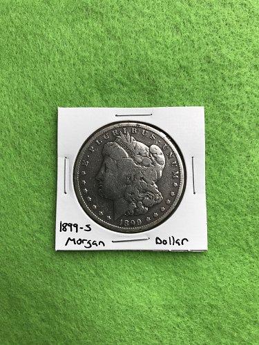 1899-S Morgan Silver Dollar - 90% Silver US Coins - Free Shipping
