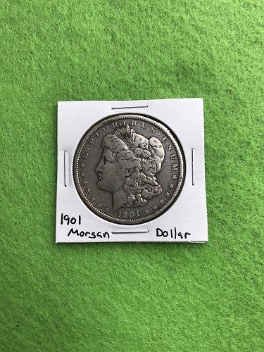 1901 Morgan Silver Dollar - 90% Silver US Coins - Free Shipping