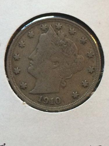 1910 P Liberty Nickels