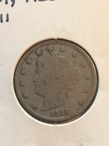 1911 P Liberty Nickels
