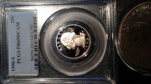 1990-s pcgs pr69dcam proof quarter