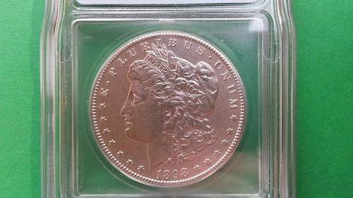 1898 S AU55 Morgan Silver Dollar