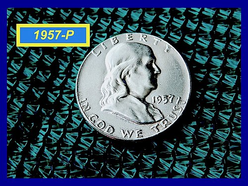 "1957 Franklin Half  ☆ ""AU"" CONDITION ☆   (#1802)a"