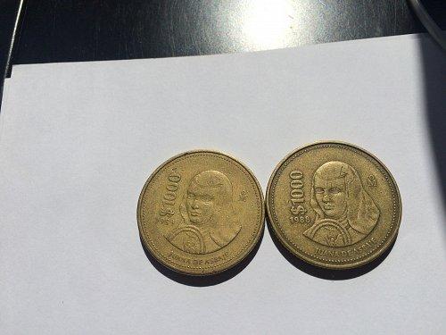 2 - $1000 mexico pesos