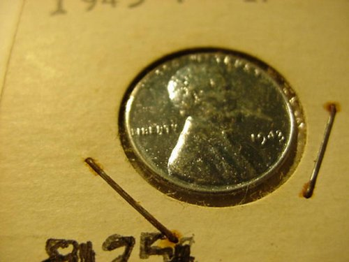 2-1943p steel pennys unc
