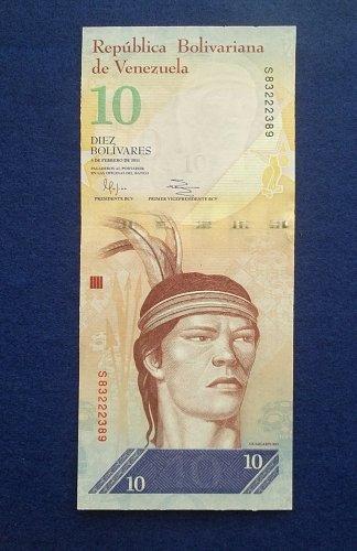 VENEZUELA 2011 10 BOLIVARES WORLD PAPER MONEY UNC CONDITION NOTE!