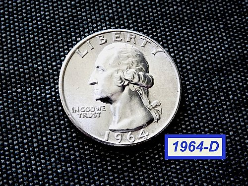 1964-D   Washington Quarter  ✬  UNCIRCULATED  ✬ (#2751)a