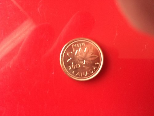 2012 NON-MAGNETIC CANADIAN CENT