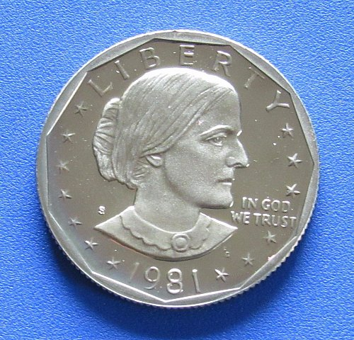 1981-S (Cameo Proof) Susan B. Anthony Dollar - Type 1