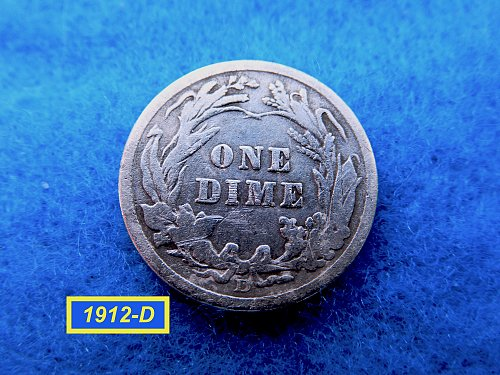 1912-D   BARBER DIME ☆  CIRCULATED ☆    (#3516)a