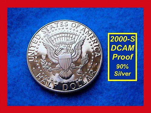 2000-S SILVER JFK PROOF ✬ Virtually Flawless  ✬   (#1596)a