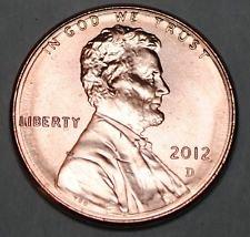 1ea. 2012d and 2013d b/u pennys
