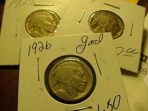 3-nickels 1924,25,26