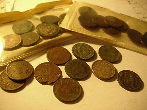30 indian pennys (beat up)