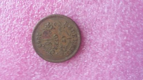 1863 civil war token troy n.y