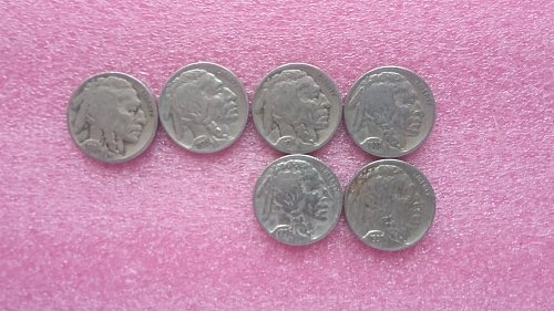 1934,1935,1936,1936d,1937,1937d buffalo nickels