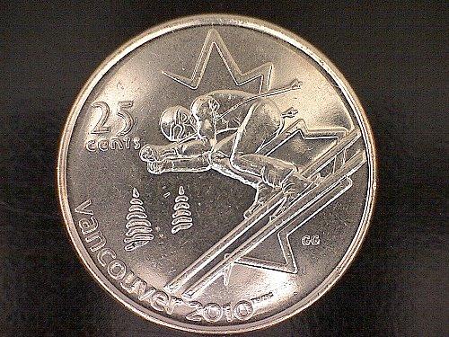 "2007 CANADA TWENTY-FIVE CENTS QUEEN ELIZABETH 11 ""VANCOUVER OLYMPICS"""