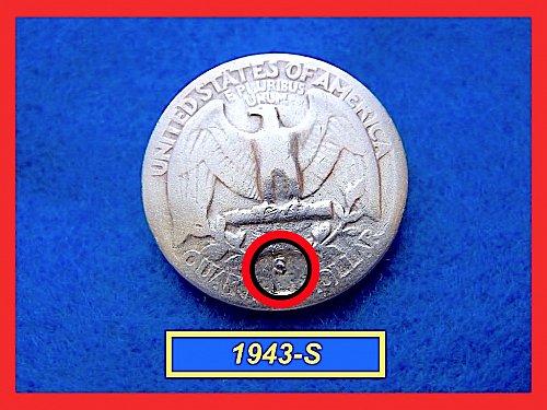 1943-S Washington  Quarter • Circulated • 90% Silver  (#2481)
