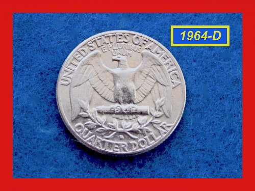 """1964-D   Washington Quarter  ✬   """"AU""""  ✬(#2643)a"""