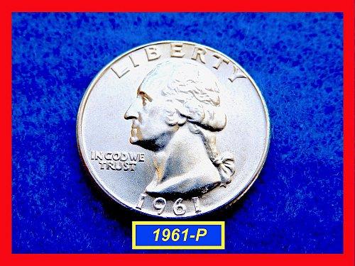 "1961-P GEM UNC Washington Quarter  – ""Uncirculated"" – (#2637)a"