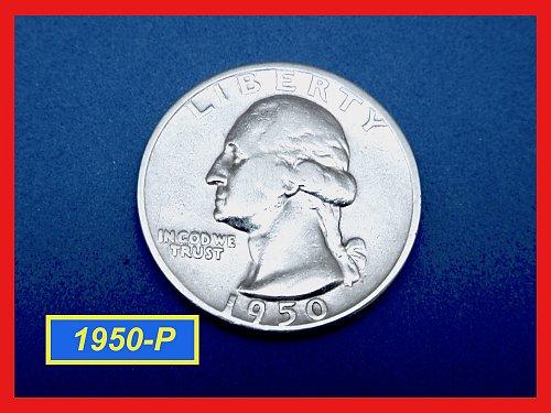 1950-P Washington Quarter —  CIRCULATED —   (#2651)a