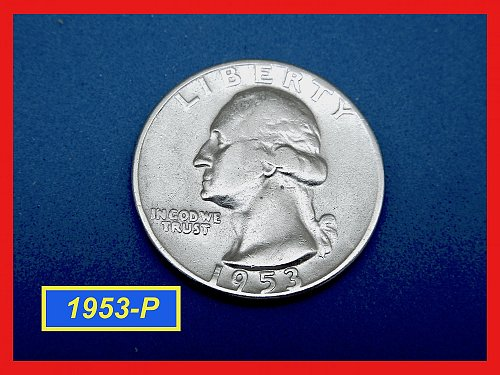1953-P Washington Quarter —  CIRCULATED —   (#2652)a