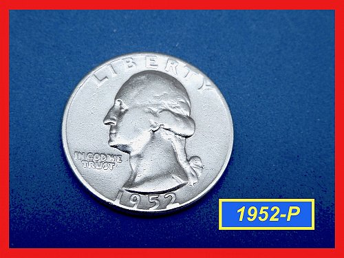 1952-P Washington Quarter —  Circulated —   (#2654)a
