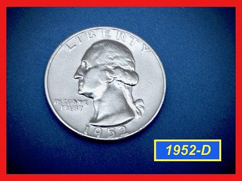 1952-D Washington Quarter —  Circulated —   (#2655)a