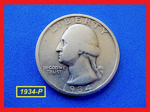 1934-P  SILVER Quarter ✬ CIRCULATED ✬ (#2732)a